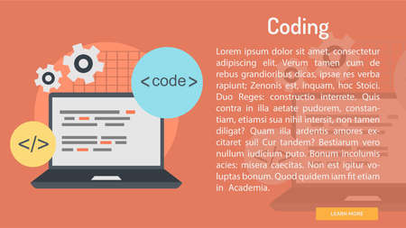 Coding Conceptual Banner 向量圖像
