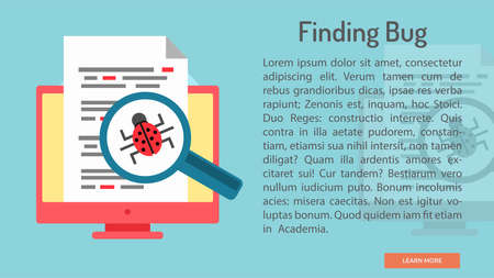 finding: Finding Bug Conceptual Banner Illustration