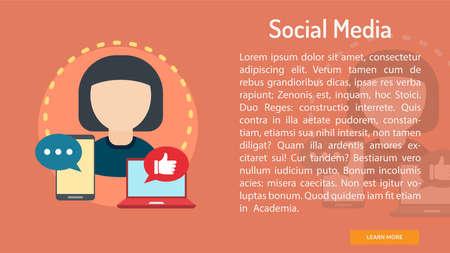 ソーシャル メディア概念バナー