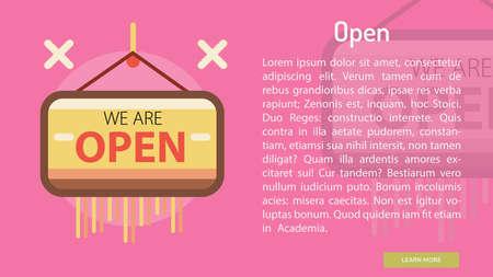 Open Conceptual Banner Banco de Imagens - 72669964