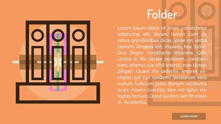 Folder Conceptuele Banner Stock Illustratie