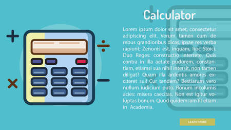 Calculator Conceptual Banner Çizim