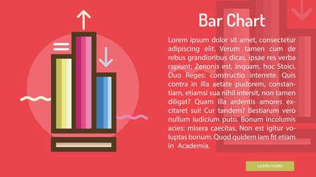 Bar Chart Conceptual Banner Illustration