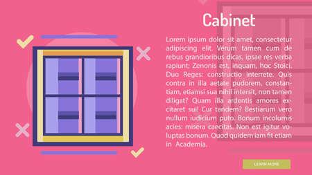 Cabinet Conceptual Banner Ilustração