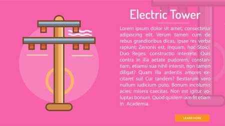 Electric Tower Conceptual Banner Stok Fotoğraf - 72898515