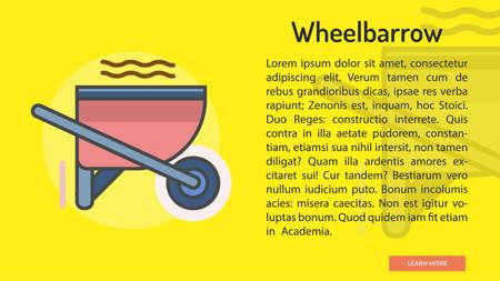 Wheelbarrow Conceptual Banner Illustration