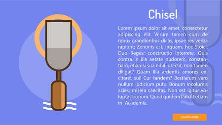 Chisel Conceptual Banner 向量圖像
