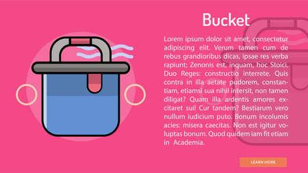 Bucket Conceptual Banner Illusztráció