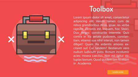 Toolbox Conceptual Banner Ilustração