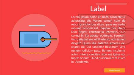 Label Conceptual Banner