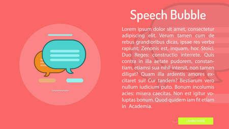 Speech Bubble Conceptual Banner