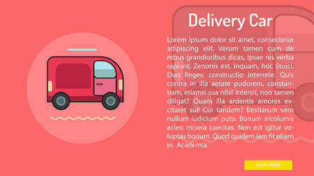 Delivery Car Conceptual Banner 向量圖像
