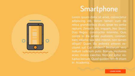 Smartphone Conceptual Banner Ilustração
