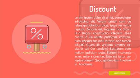 Discount Conceptual Banner