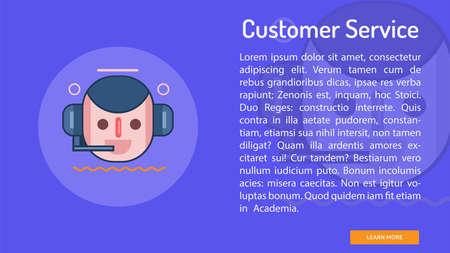 Customer Service Conceptual Banner 向量圖像