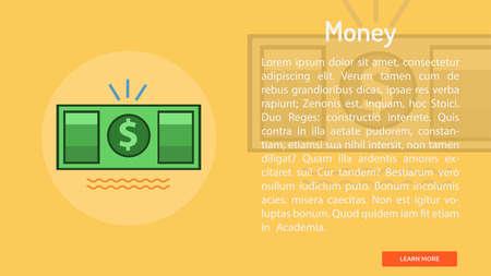 Money Conceptual Banner Ilustração