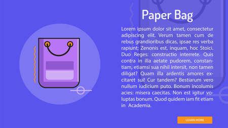 Paper Bag Conceptual Banner