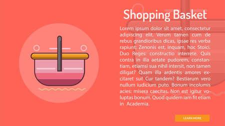 Shopping Basket Conceptual Banner
