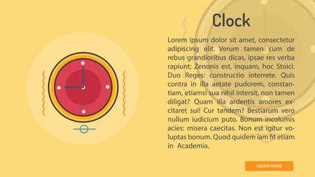 Clock Conceptual Banner Ilustração