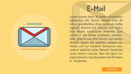E-mail Conceptual Banner 向量圖像
