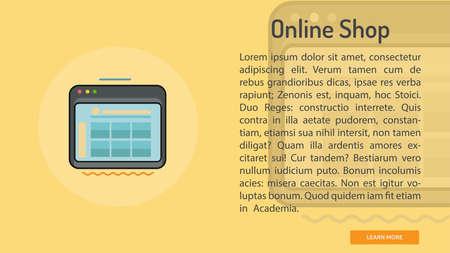 Online Shop Conceptual Banner Çizim