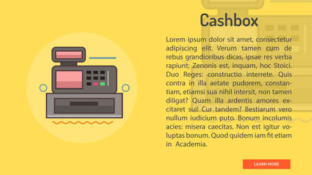Cashbox Conceptual Banner