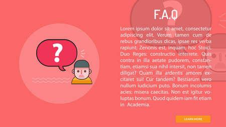 F.A.Q Conceptual Banner