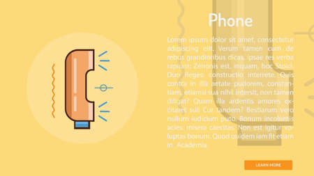 Phone Conceptual Banner 向量圖像