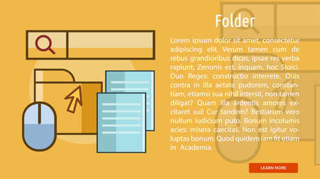 Folder Conceptual Banner Çizim