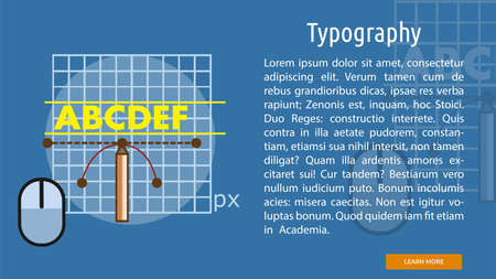 Typography Conceptual Banner