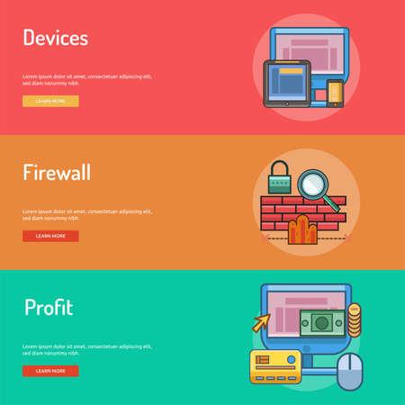 Banner design concettuale di Web e sviluppo Archivio Fotografico - 73168547
