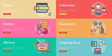 Web、開発概念のバナー デザイン