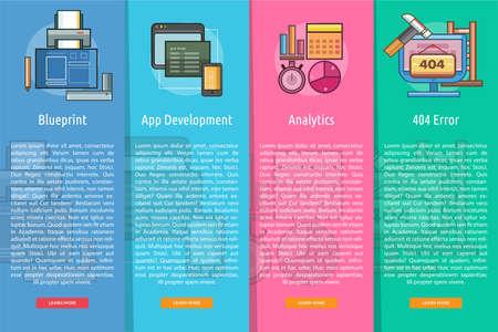 Web 開発と開発の垂直バナー コンセプト