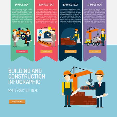 Infografisches Bauen und Bauen Standard-Bild - 81698502