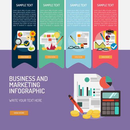 Infografía de Negocios y Marketing Foto de archivo - 75627344