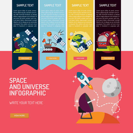 Infographic Space and Universe