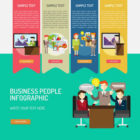 Infographic Business People