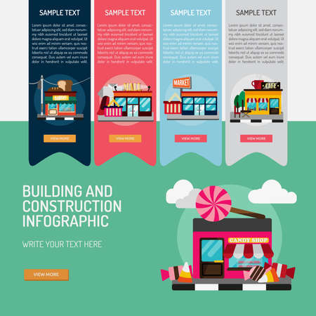 Infographic Building and Construction Illustration