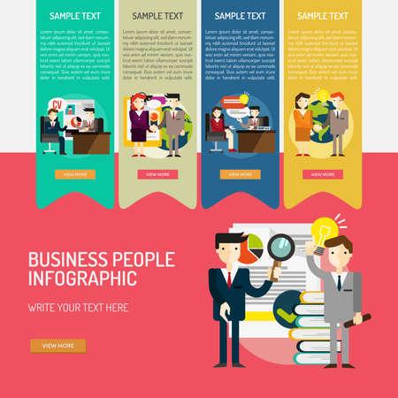 Infographic zakenmensen