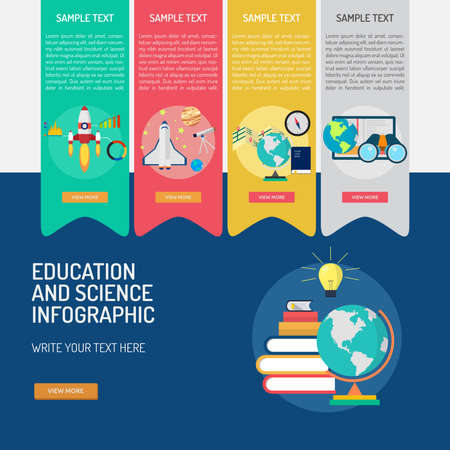 Infographic Education and Science 向量圖像