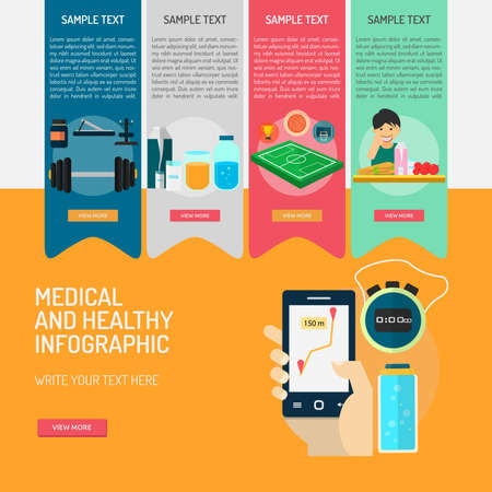 Infographic Medical and Healthy Ilustrace