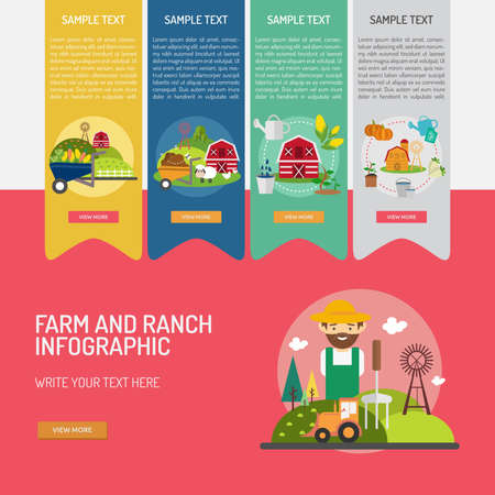 fieldwork: Infographic Farm and Ranch Illustration