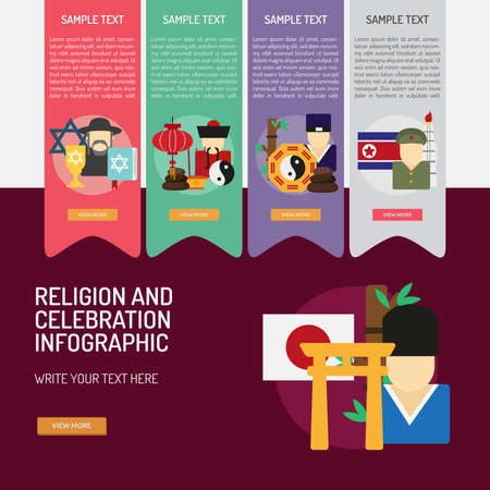 Infographic Religion and Celebrations Illustration