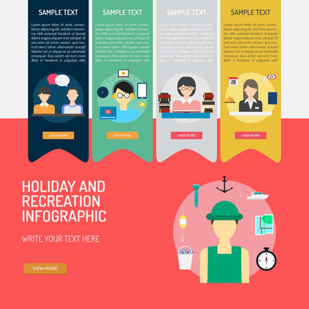 Infographic Holiday and Recreation