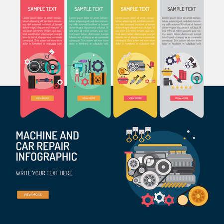 Infographic Mechanic and Car Repair.
