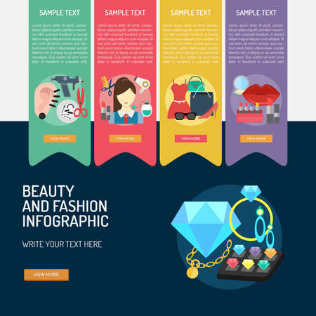 Infographic Beauty and Fashion.