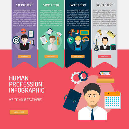 Infographic Human Profession. Иллюстрация