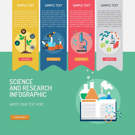 Infographic Science and Research. Ilustracja