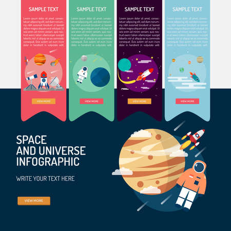 Infographic Space and Universe.