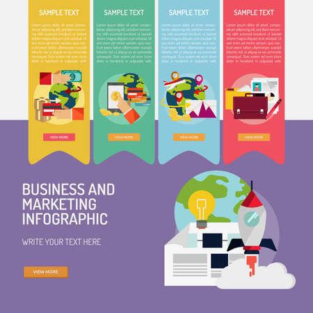 Business and Marketing. Illusztráció